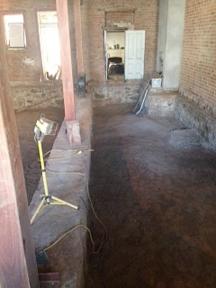 Bare-dirt-under-floor