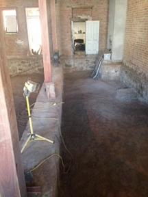 Bare-dirt-under-floor